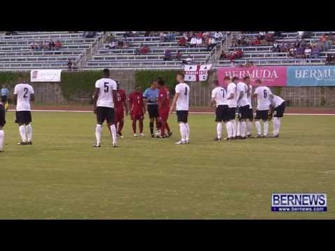 Bermuda vs England C football game on June 4 2013