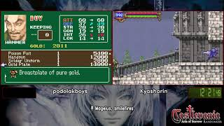 Castlevania: Aria of Sorrow Randomizer Race.