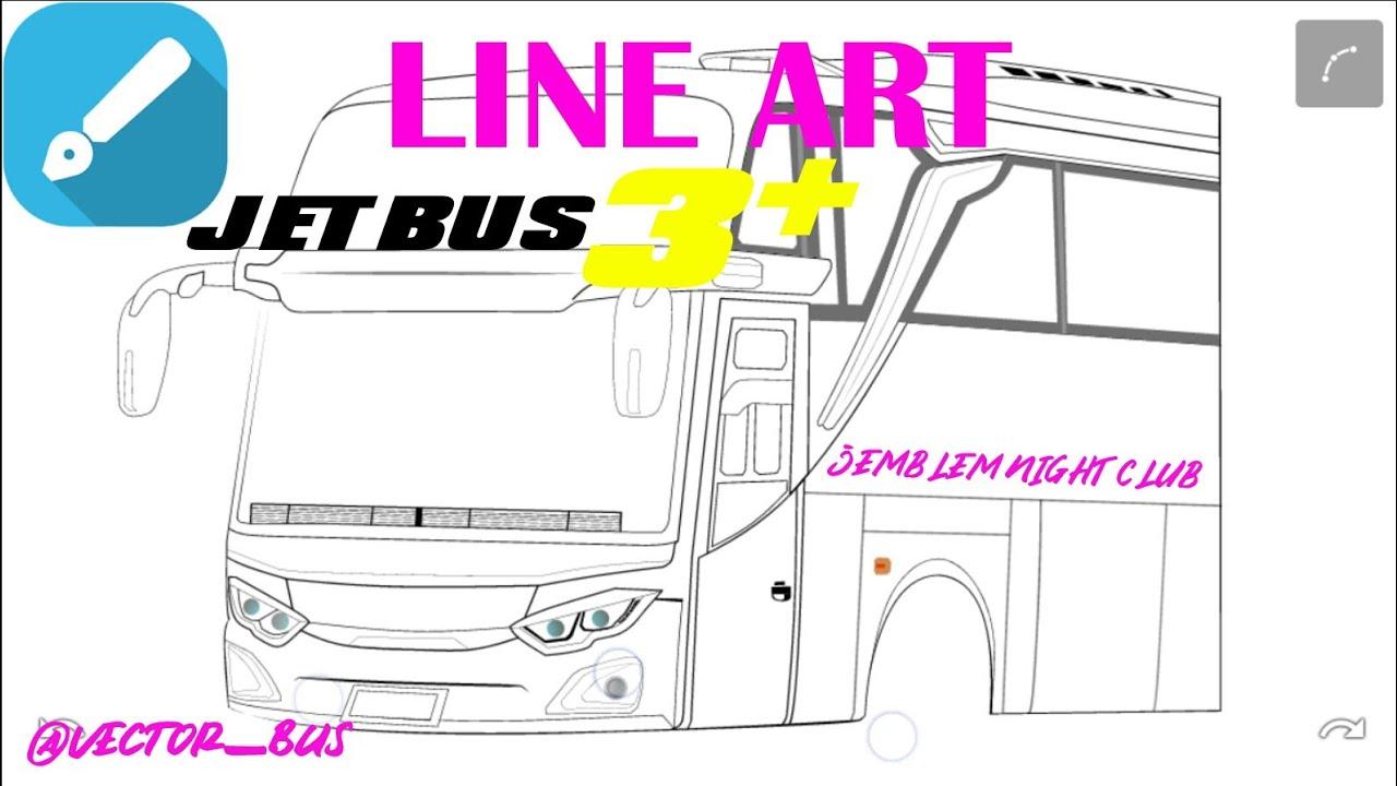 Tutorial Line Art Vector Bus Jetbus 3 Shd Jemblem Night Club Infinite Design Apk