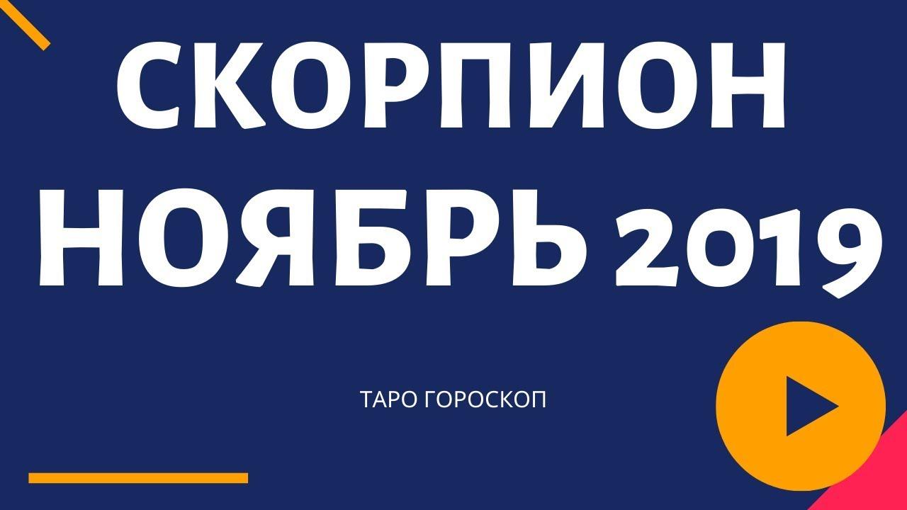 СКОРПИОН НОЯБРЬ 2019 СОБЫТИЯ И СОВЕТЫ НА МЕСЯЦ ТАРО ГОРОСКОП