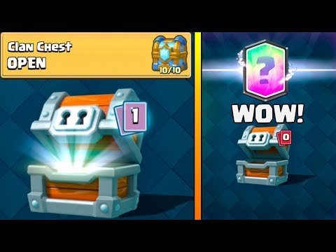 RARE LEGENDARY PULL FROM CHEST :: Clash Royale :: 10 OUT OF 10 CLAN CHEST OPENING
