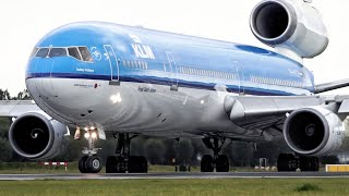 Video CLASSIC KLM MD-11! Powerful Spool Up and departure out of Amsterdam Schiphol Airport download MP3, 3GP, MP4, WEBM, AVI, FLV Oktober 2018