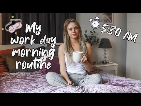 MY 5:30 AM MORNING ROUTINE FOR WORK ♡ 2019