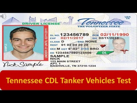 Tennessee CDL Tanker Vehicles Test
