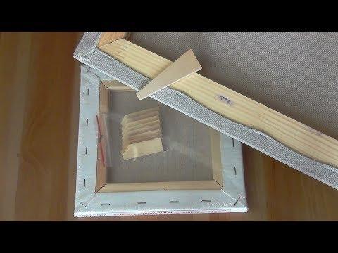 видео: Как установить клинья в модульный подрамник с холстом