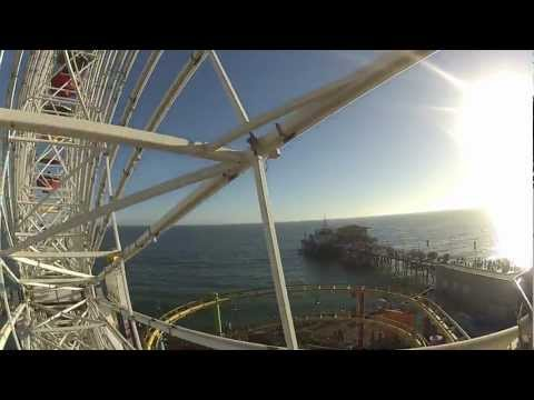 Pacific Wheel On-Ride POV at Pacific Park, Santa Monica Pier - Los Angeles, CA, USA