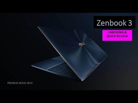 Notebook ASUS Zenbook 3 Indonesia : Quick review & Unboxing