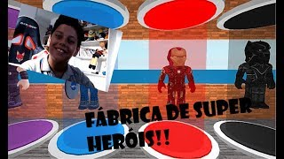 I BUILT A SUPER HERO FACTORY!! Roblox