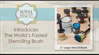 How to Use the Large Stencil 3 Inch Brush from Royal Design Studio Thumbnail