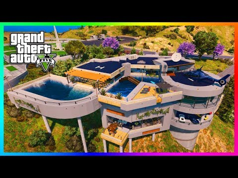 MOST EXPENSIVE GTA 5 BILLIONAIRE MANSION EVER - Exploring Ov