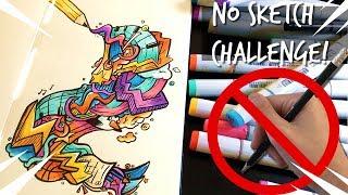 NO SKETCH DOODLE CHALLENGE! *Freehand Doodle*   Shrimpy