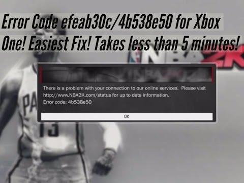 how to fix error code efeab30c 2k17