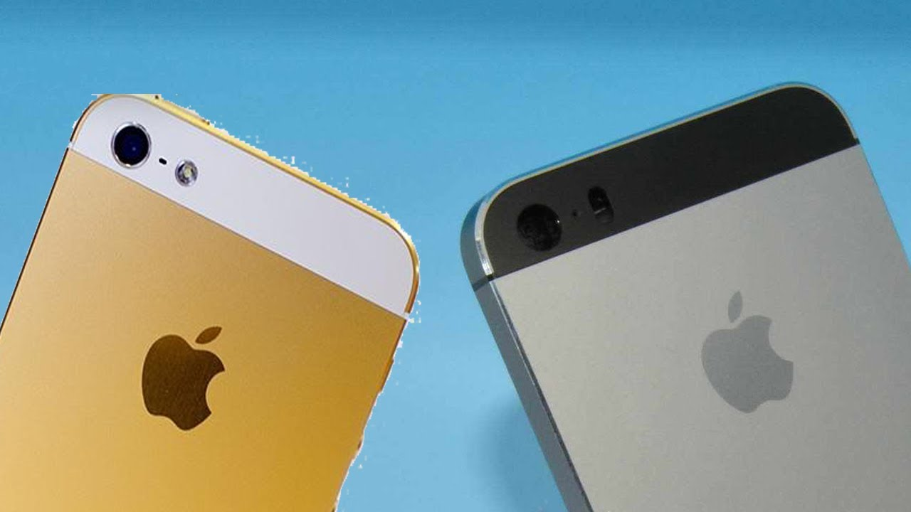 First Look IPhone 5S Gold Champagne VS 5C And 5 Black Slate White