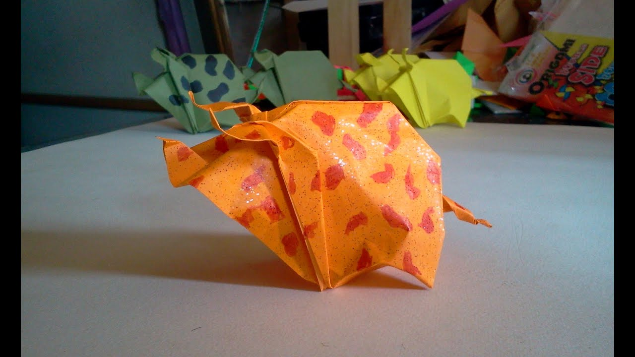 How To Make An Origami Pig With A Dollar