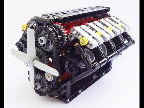 2013 crowkillers custom 1 6 scale lego technic v8 engine. Black Bedroom Furniture Sets. Home Design Ideas
