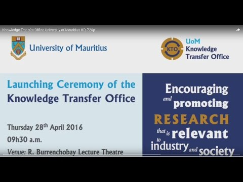 Knowledge Transfer Office   University of Mauritius HD, 720p