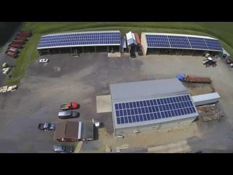 Green Power Energy Presents: Time-lapse Video of New Village Farms Roof Mounted Solar System