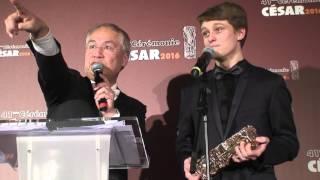 Rod Paradot César 2016 Meilleur Espoir masculin pour La tête haute