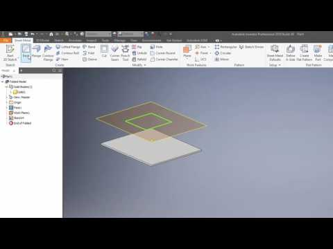Inventor 2011 Sheet Metal Cylinder With Rip Doovi