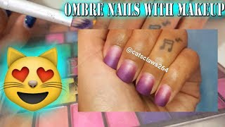 How To Ombre Nails Using Makeup