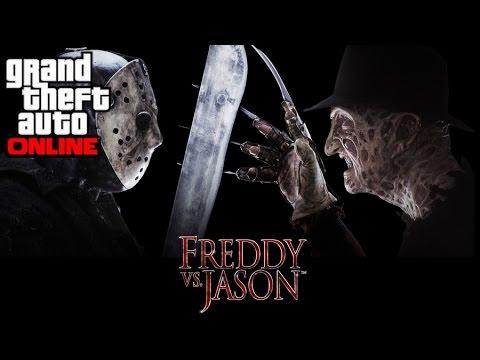 Gta 5 Freddy Krueger Vs Jason Voorhees Youtube