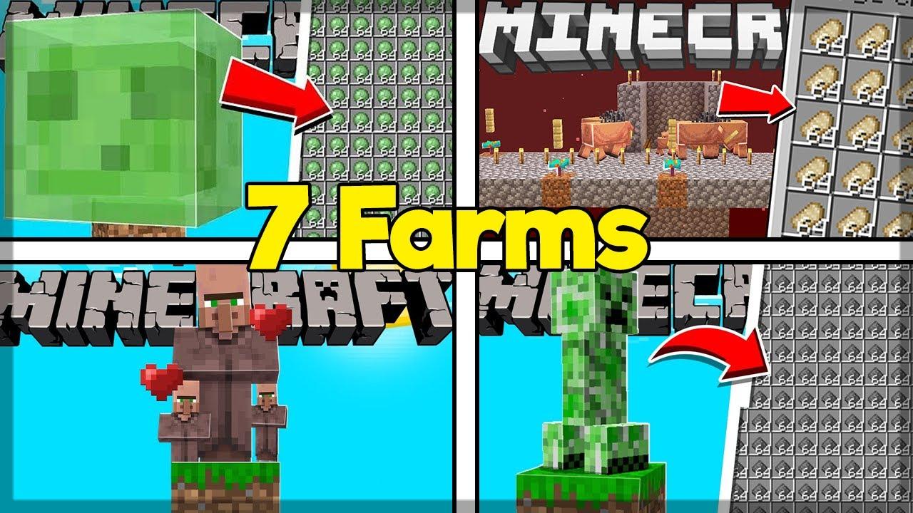 7 FARMS ESSENCIAIS PARA O SEU SURVIVAL NO MINECRAFT 1.16