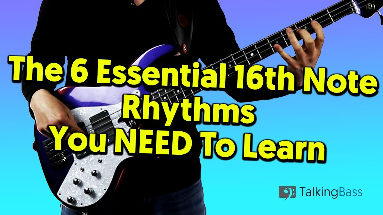 (54) The 6 Essential 16th Note Rhythms You NEED To Learn! - YouTube