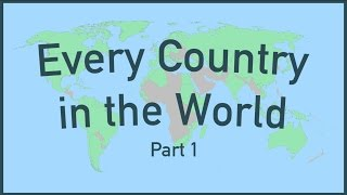 Every Country in the World (Part 1)(Support Wendover Productions on Patreon: https://www.patreon.com/wendoverproductions This is every country in the world, or at east the first 98 since part two ..., 2016-12-06T15:30:00.000Z)