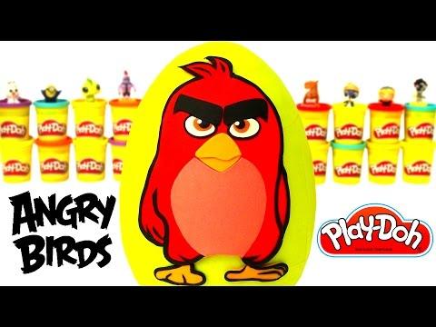 Huevo Sorpresa Gigante de Angry Birds en Español de Plastilina Play Doh
