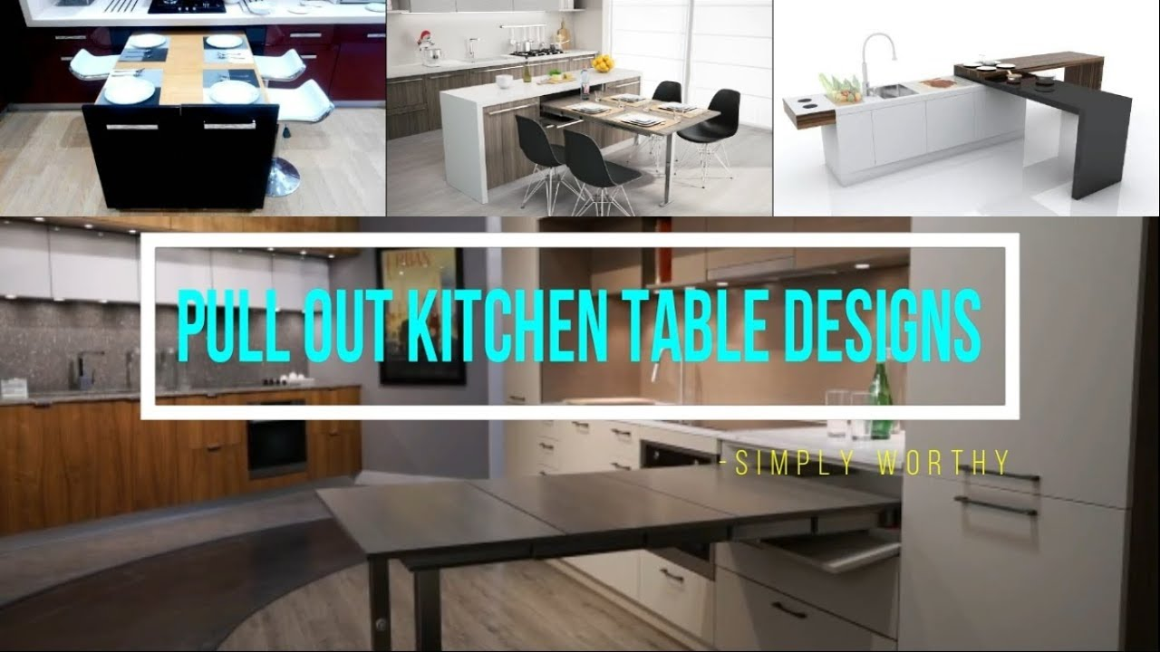 10 Modern Pull Out Slide Kitchen Table Designs For Saving Space Youtube