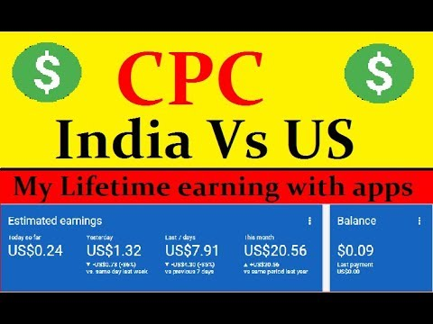 Admob Cpc India Vs Us Canada High Countries Rate In Germany