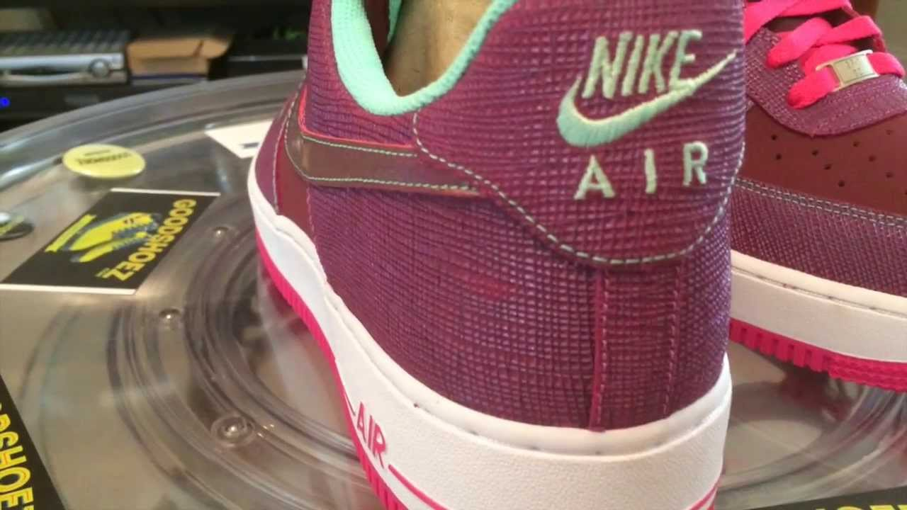 official photos 29fa7 cff5d @Nike Air Force 1 Low - Cherrywood / Pink Foil GR - 11-29-13 - Black Friday  Release 2013 - YouTube
