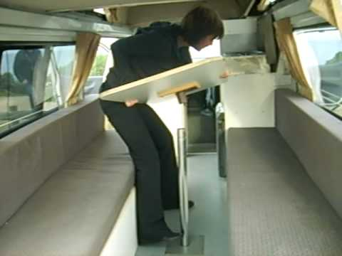 How To Turn A Table Into A Bed In A Campervan Part 1