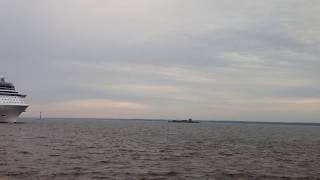Celebrity ECLIPSE.    Cruise liner coming from St. Petersburg круизный лайнер в санкт-петербурге