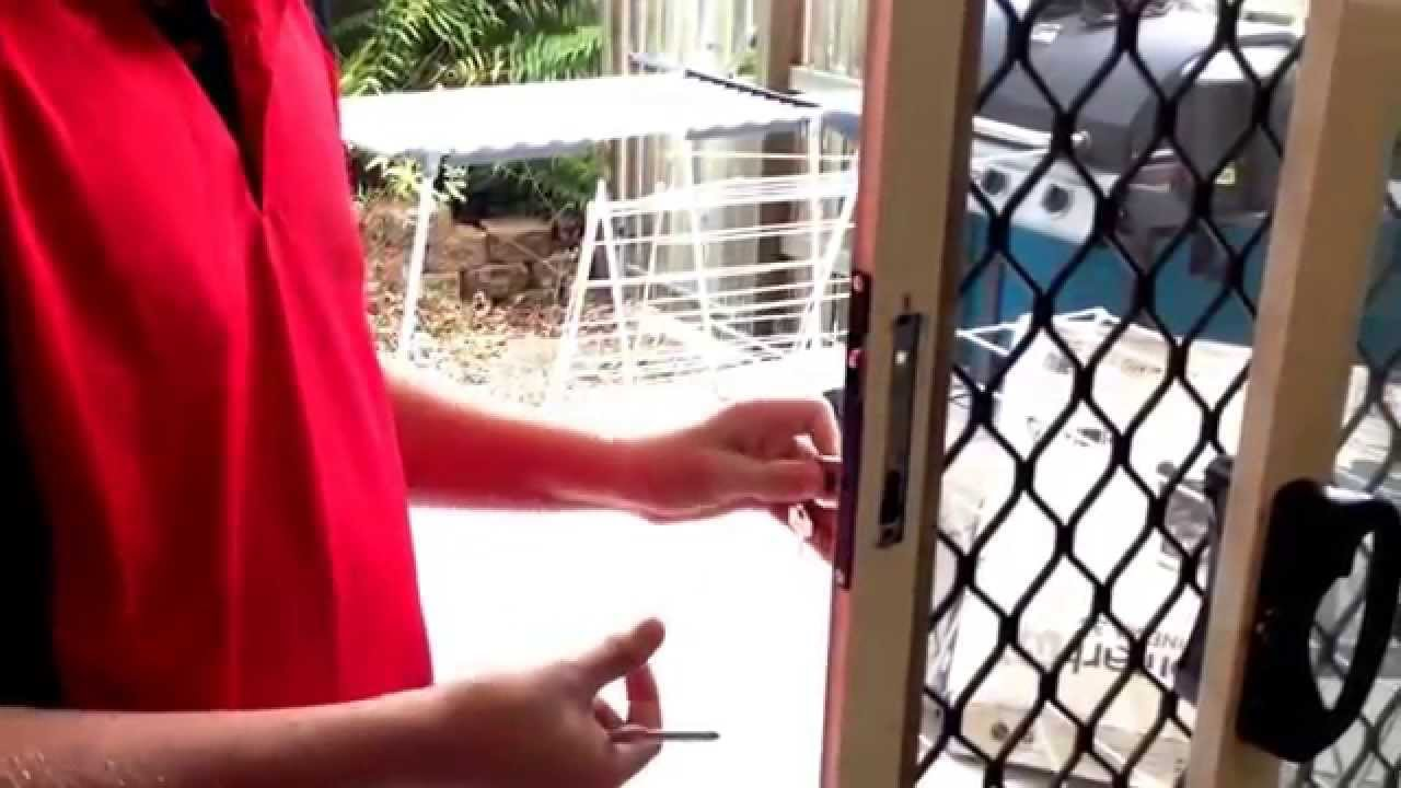 how to replace sliding screen door lock