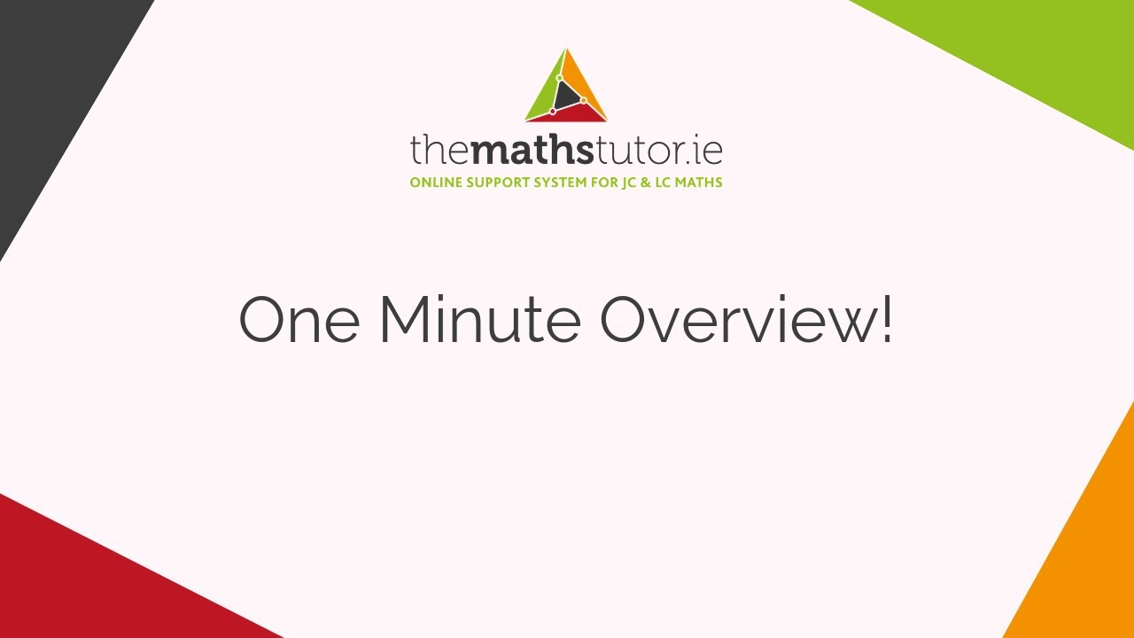 Leaving Cert | Junior Cert | Maths Grinds | Online Maths Tutor