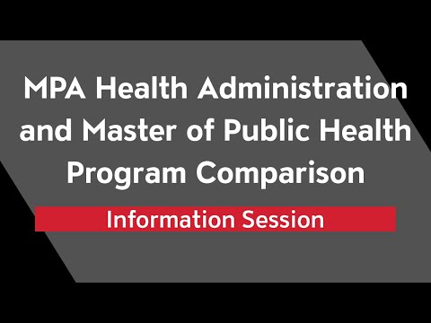 Health Administration and Public Health Program Comparison