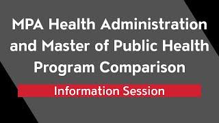 Health Administration and Public Health Program Comparison