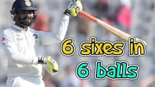 Ravindra Jadeja smashed solid 6 6 6 6 6 6    Must Watch   against New Zealand 2017