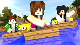 Minecraft - CORRIDA DE LUCKY BLOCK (Em Família)