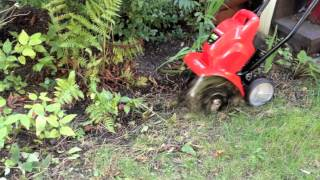 Edging with Troy-Bilt's TBC57 Cordless, Battery-Powered Cultivator