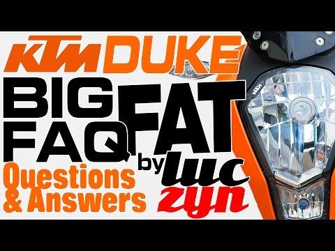 KTM Duke 125 FAQ Q&A Questions & Answers User Guide MotoVlog Pytania Odpowiedzi i Poradnik HD