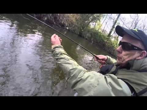 Fishing the worm on the rhymney