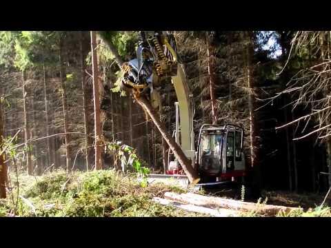 Bán máy cắt gỗ cây, máy khai thác gỗ lắp trên xúc đào - 0962376188