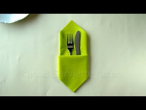 napkin folding pouch how to fold a easy napkin pocket. Black Bedroom Furniture Sets. Home Design Ideas