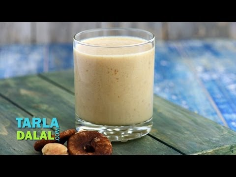 फिग-एप्रीकोट शेक (Fig and Apricot Shake, Pregnancy and Calcium Rich Recipe) by Tarla Dalal,