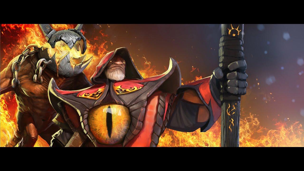 Dota 1 Heroes Wallpaper Hd Dota 2 Endgame Warlock 4 Golems Youtube