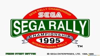 Sega Rally gameplay (PC Game, 1995)
