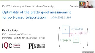 Optimality of the pretty good measurement for port based teleportation presented