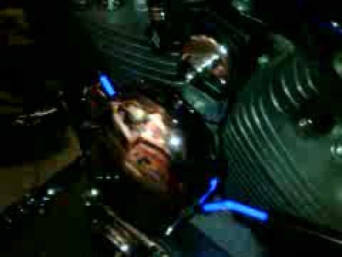 1994 Harley Evo Custom 1200 with Dr Neon plug wires - YouTube